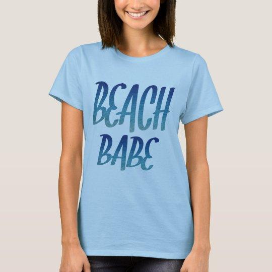Hot Beach Babe Text T-Shirt