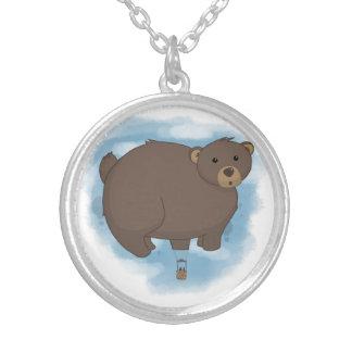 Hot Bear Balloon Round Pendant Necklace