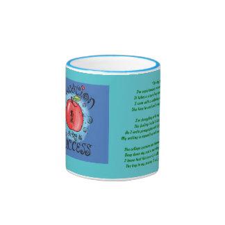 Hot Beverage of Success ! Ringer Coffee Mug
