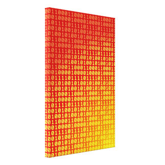 Hot bits gradient pattern canvas print