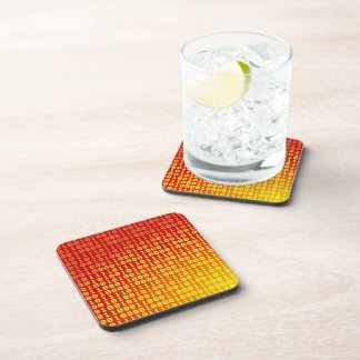 Hot bits gradient pattern drink coaster
