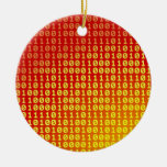 Hot bits gradient pattern ornaments