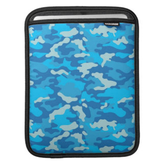 Hot Blue Army Military Camo Camouflage Pattern Sleeve For iPads