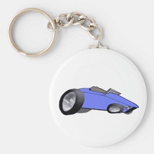 Hot Blue Keychain