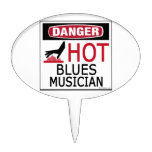 Hot Blues Musician Cake Toppers