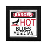 Hot Blues Musician Trinket Boxes