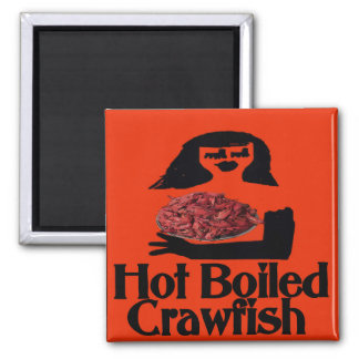 Hot Boiled Crawfish Woman Magnet