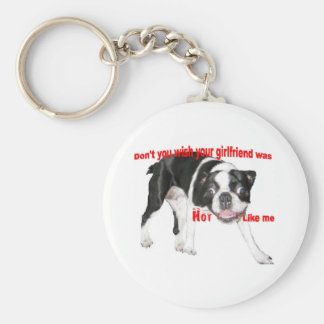 Hot Boston Terrier Key Chain