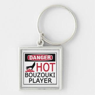 Hot Bouzouki Player Keychain