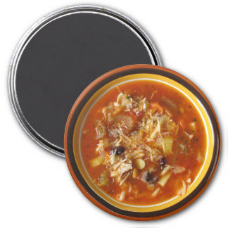 Hot Bowl of Minestrone Soup Refrigerator Magnet