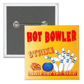 hot bowler design 2 inch square button