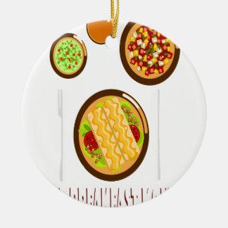 Hot Breakfast Month - Appreciation Day Ceramic Ornament