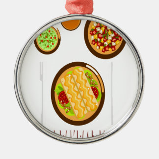 Hot Breakfast Month - Appreciation Day Metal Ornament