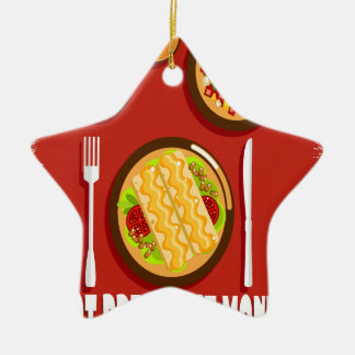 Hot Breakfast Month February - Appreciation Day Ceramic Ornament