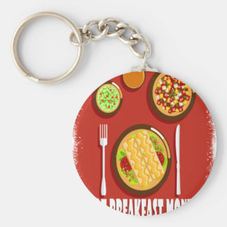 Hot Breakfast Month February - Appreciation Day Keychain