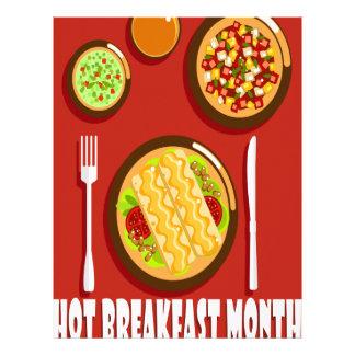 Hot Breakfast Month February - Appreciation Day Letterhead