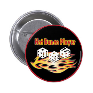 hot bunco player 2 inch round button