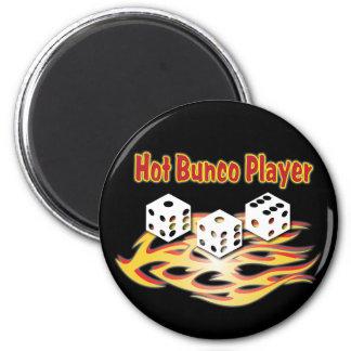 hot bunco player 2 inch round magnet