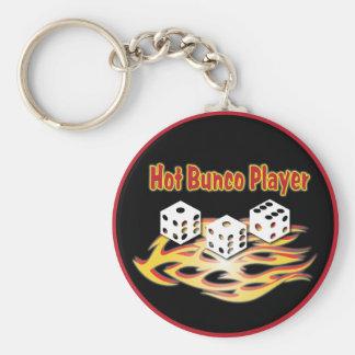 hot bunco player basic round button keychain