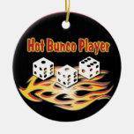 Hot Bunco Player Ceramic Ornament