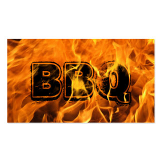 Hot Burning Fire BBQ Business Card