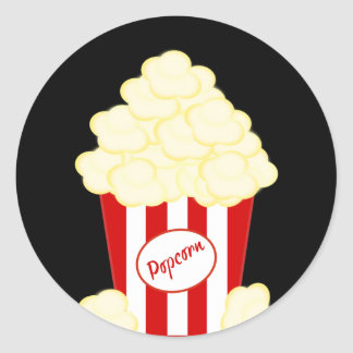 Hot Buttered Popcorn Movie Classic Round Sticker
