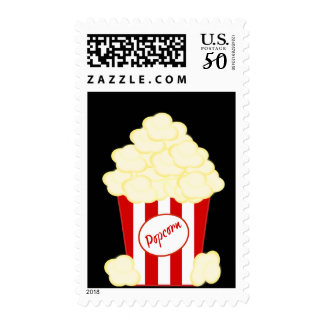 Hot Buttered Popcorn Movie Postage Stamps