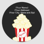 Hot Buttered Popcorn Movie Stickers