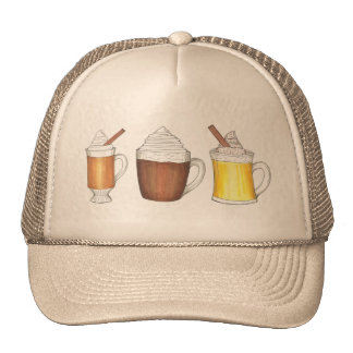 Hot Buttered Rum, Cocoa, Egg Nog Holiday Drink Hat