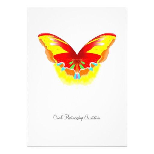 Hot Butterfly - Civil Partnership Invitation