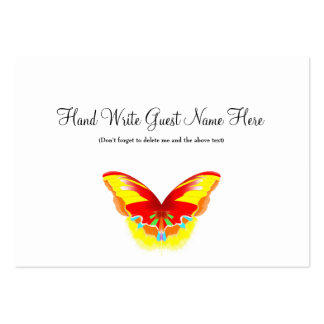 Hot Butterfly - Place Cards Business Cards