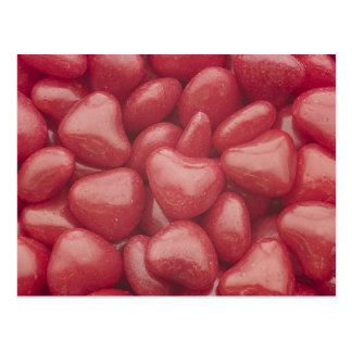 Hot Candy Hearts Post Card