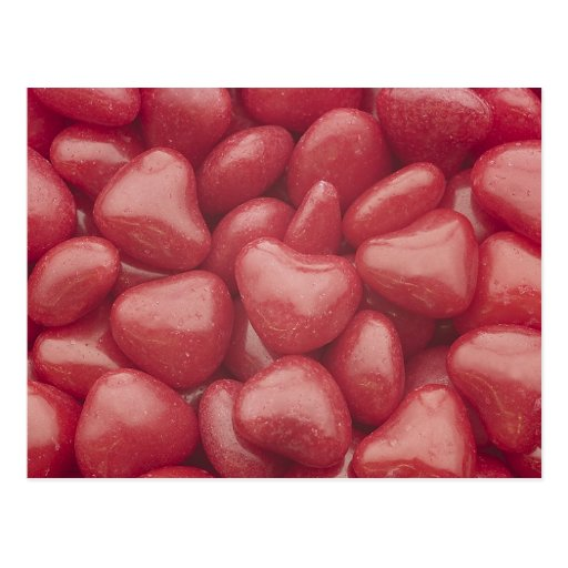 Hot Candy Hearts Postcard