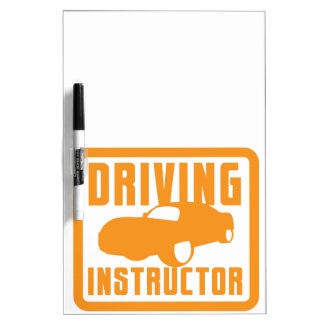 Hot car DRIVING instructor Dry Erase Board
