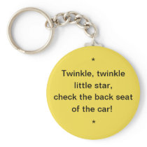 Hot Car Safety Reminder Key Chain