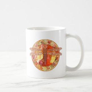 Hot Celtic Dragonfly Classic White Coffee Mug