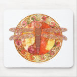 Hot Celtic Dragonfly Mouse Pad