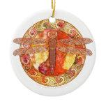 Hot Celtic Dragonfly Ornament