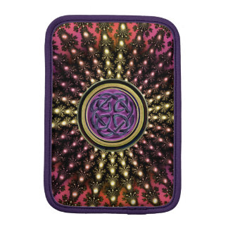 Hot Celtic Fractal Mandala iPad Mini Sleeve