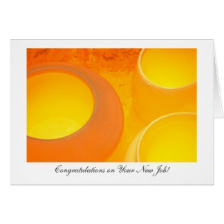 Hot Ceramic Pots - Congratulations on Your New Job Card
