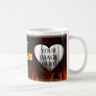 Hot Charles fire and red marble Coffee Mug
