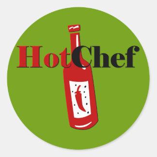 Hot Chef Classic Round Sticker