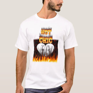 Hot Chic fire and red marble heart. T-Shirt