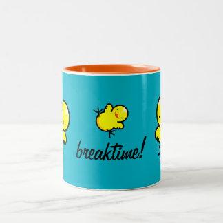 Hot Chick Breaktime Two-Tone Coffee Mug