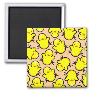 Hot Chicks 2 Inch Square Magnet