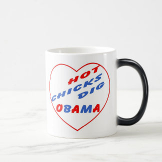 Hot Chicks Dig Obama Souvenir Magic Mug