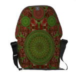 Hot Chile Mandala Array Messenger Bag
