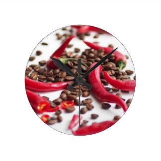 Hot Chili café Round Clock