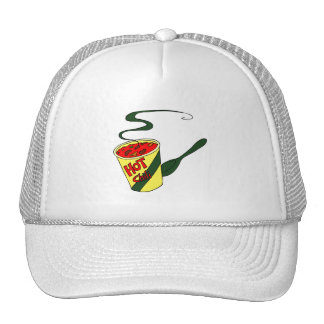 HOt chili cup with spoon graphic Mesh Hats