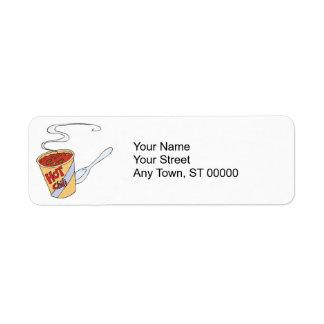 hot chili custom return address labels